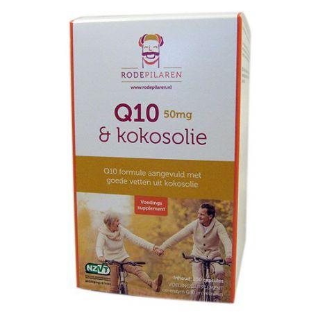 Q10 50 mg & Kokosolie De Rode Pilaren