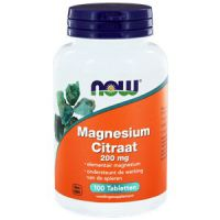 Magnesium Citraat 200 mg NOW
