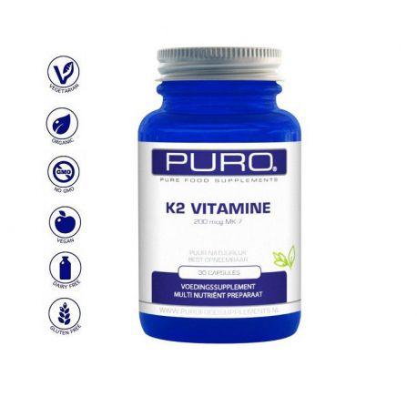 Vitamine K2 200mcg MK-7 Puro