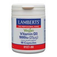 Vegan Vitamine D3 1000IE (25mcg) Lamberts