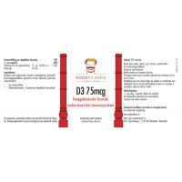 Vitamine D3 75mcg Rode Pilaren
