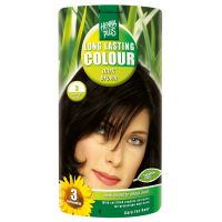 Dark brown 3 Long Lasting Colour Henna Plus