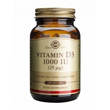 Vitamin D-3 25 µg/1000 IU softgel Solgar